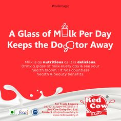 The nutritional composition of milk is highly valued. It is called a complete food as it contains almost every single nutrient that our body needs. Drink a glass of milk every day & see your health grow day by day! Visit Us At redcowdairy. Vitamin A Foods, Foods With Calcium, Composition Of Milk, Milk Nutrition, Fresh Milk, No Dairy Recipes, Beverages, Drinks, Glass Of Milk