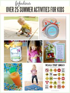 Over 25 Summer Kids Activities!  (several more years of lists, also on this blog)       http://www.thirtyhandmadedays.com/2013/05/summer_kids_activities/