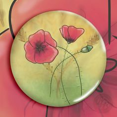 """""""Magnetka Máky v poli"""" (""""Magnet Poppies in the Field"""")   approx. $2.11"""