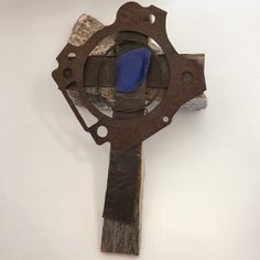 Own a piece of the old west with this Rustic wall cross will grace any decor. The wood used is from old produce crates aged by use and weather. The metal strips that are attached to the wood are from antique wooden and a desert sea glass center piece. Rustic Cross, Mexico Art, Christian Decor, Glass Center, Repurposed Wood, Religious Cross, Wood Crosses, Southwest Style, Rustic Wall Decor