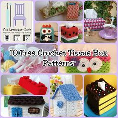 Not only do these crochet tissue box cover patterns make your Kleenexes look cute, it's a great way to dress up your home, Especially with allergy season!