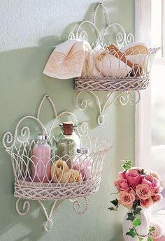 18 Magnifiques idées pour rendre une salle de bain, un peu plus Shabby Chic! - Décorations - Trucs et Bricolages