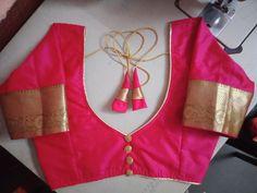 Simple Saree Blouse Designs, Latest Blouse Neck Designs, Choli Blouse Design, Blouse Designs High Neck, Wedding Saree Blouse Designs, Stylish Blouse Design, Fancy Blouse Designs, Saree Fashion, Fashion Blouses