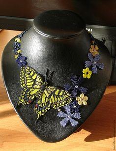 """Колье, бусы ручной работы. Ярмарка Мастеров - ручная работа Колье с бабочкой """"Василиса"""". Handmade."""