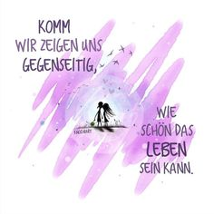 #Komm wir #zeigen uns #gegenseitig,wie schön das #Leben sein kann.  …schönes #Wochenende euch allen ☺️  #herzallerliebst #spruch #Sprüche #spruchdestages #motivation #thinkpositive ⚛ #themessageislove #art #lila #pink #love #weekend (hier:...
