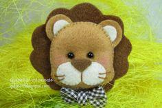 felt lion by Gracinhas Artesanato