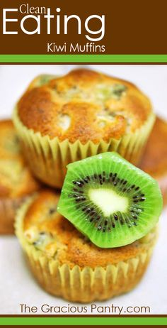 Clean Eating Kiwi Muffins #cleaneating #cleaneating #cleaneatingrecipes #eatclean #muffins #muffinrecipes