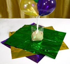 Mardi Gras Centerpieces | Party Ideas by Mardi Gras Outlet: Air-filled Balloon Centerpieces ...