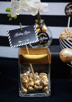 Black + Gold Glamorous Graduation Party