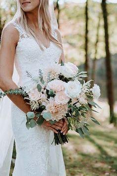 We love how the boho greens funk up t… 27 Whimsical Summer Wedding Bouquet Summer Wedding Bouquets, Bride Bouquets, Spring Wedding, Wedding Colors, Wedding Dresses, Boho Wedding Bouquet, Wedding Bride, Country Wedding Bouquets, Rustic Bouquet