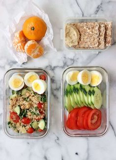 One of my new favourite go-to lunches the past couple months has involved hard-boiled eggs! They are super filling, easy to transport to work or school and provide so many nutrients! It's also important to have lunches that include complete proteins, good Healthy Recipe Videos, Healthy Dinner Recipes, Diet Recipes, Vegetarian Recipes, Healthy Vegetarian Lunch Ideas, Lunch Recipes, Veggie Lunch Ideas, Lunchbox Ideas, Vegetarian Cooking