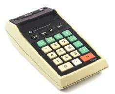 Vintage 1974 Texas Instruments Ti2550 Calculator & by atomicashop