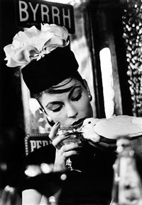 Mary Dove at Cafe, Paris Vogue by William Klein