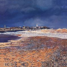 Passing Storm, Southwold Beach Scenes, Design Projects, Grand Canyon, Art Gallery, Colours, Texture, Mountains, Painting, Travel