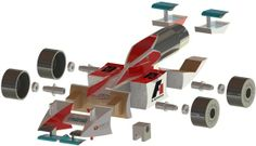 3d printed parts for F1 racing car make it rank #1 in final race
