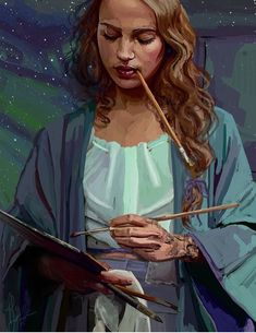 Feyre painting A Court of mist and fury, Sarah J mass