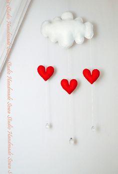 Wölkchen, Wolke - hängende Dekoration für Kinder von Sowa Studio Handmade auf DaWanda.com