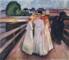 The Ladies on the Bridge - Edvard Munch