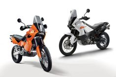 KTM 950 Adventure and KTM 990 Adventure. The bike that changed the perception of what a big adventure bike is capable of.