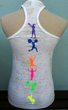Fitness Moves Tank Top White Burnout.  #crossfit #fitnessapparel #fitness #tanktops #www.facebook.com/sorockshop