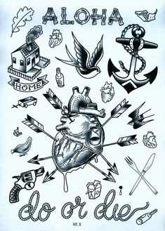 www.duncanx.com tattoo flash sheet 3