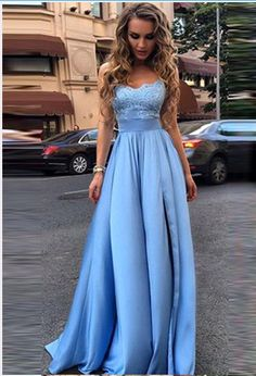Elegant A-Line O-Neck Prom Dresses,Long Prom Dresses,Cheap Prom
