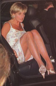 Diana, Princess of Wales arrives at Christies Auction In New York City for the sale of her 79 dresses on June 23, 1997