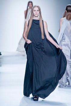 Black Dress @ Ann Demeulemeester Spring 2013 Paris Fashion Week #PFW