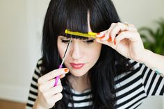 Tips for trimming your bangs at home