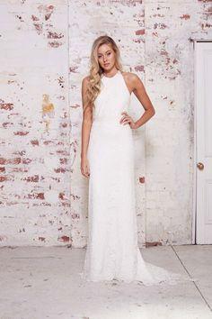 single post real bride tash bespoke gown