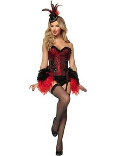 Adult Burlesque Showgirl Costume ($119.99) - Party City ONLINE