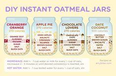 DIY Instant Oatmeal Jars