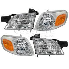 New Headlight &Parking Corner Light Chevy Venture Montana Left & Right Pair Set  #AftermarketReplacement