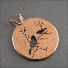 Winter Chickadee Pendant in Copper – Beth Millner Jewelry