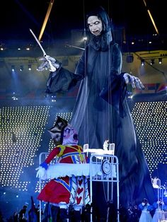 Lord Voldemort features in the opening ceremony of the 2012 Summer Olympics at London