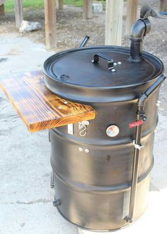 Discover thousands of images about UDS BUILD Thread! 55 Gallon Drum Smoker, Ugly Drum Smoker, Uds Smoker, Bbq Pit Smoker, Barrel Bbq, Barrel Smoker, Barbecue Design, Grill Design, Truck Design