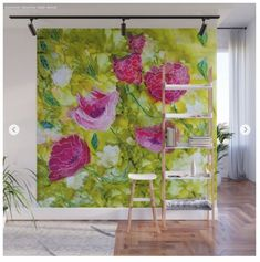 Wall Mural from my store. These have a sticky backing which can be moved anywhere on your wall. Affordable Art, Framed Art Prints, Wall Murals, Bloom, Store, Design, Home Decor, Wallpaper Murals, Decoration Home