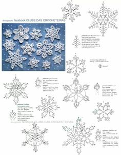 Best 12 Vintage book with crochet Christmas snowflakes patterns The listing is for an eBook (electronic book) IN ENGLISH LANGUAGE (written – SkillOfKing. Crochet Snowflake Pattern, Crochet Stars, Crochet Snowflakes, Thread Crochet, Crochet Diagram, Crochet Motif, Crochet Doilies, Crochet Flowers, Crochet Patterns