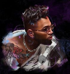 'Chris Brown Indigo Season' Art Print by iulianart Chris Brown Drawing, Chris Brown Official, Breezy Chris Brown, Realism Art, Colour Images, Going Crazy, Insta Art, Cool T Shirts, Indigo