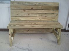 Simple, Strong, Comfortable Sitting Benches – Jays Custom Creations