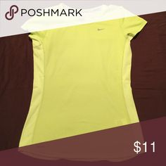 Nike Dry Fit Running Top Running workout top. Bright yellow Worn once excellent condition Nike Tops Tees - Short Sleeve