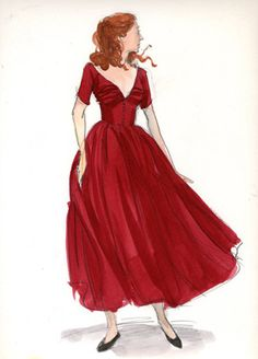 Curious Case of Benjamin Button. Never seen the film. Love this dress sketch, though.