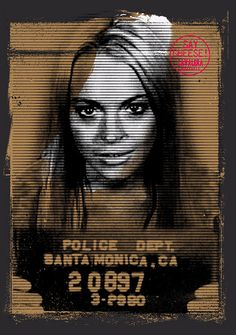 Lindsay Lohan Mugshot inspired, Located T-shirt print designed by me for Cavalera A/W 2012