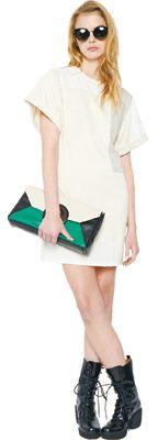 Stussy Cross Cut Big Sleeve Dress & SS-Link Lady Clutch #stussyjapan #spring2013