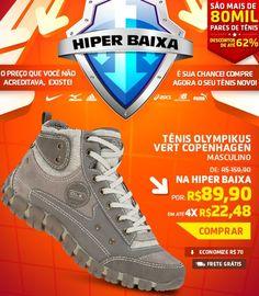Aproveitei a Hiper Baixa de calçados na Centauro para comprar este lindo tênis de R$ 159,90 por apenas R$ 89,90.