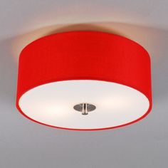Plafonniere Drum 30 rond rood