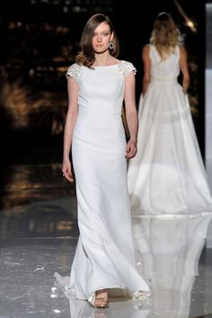 Cabotine. Credits_ Barcelona Bridal Fashion Week(2) Best Wedding Dresses, Bridal Dresses, Bridal Fashion Week, Different Styles, One Shoulder Wedding Dress, Marriage, Wedding Inspiration, Vogue, Dresses With Sleeves