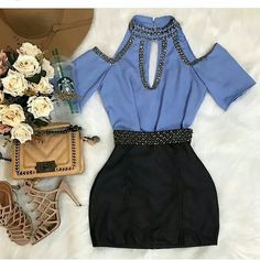 Cute Outfit For Cocktail Party / Only Me 💋💚💟💖✌✔👌💙💚 xoxo Kpop Outfits, Girly Outfits, Skirt Outfits, Chic Outfits, Pretty Outfits, Fashion Outfits, Womens Fashion, Fashion Trends, Hijab Style Dress