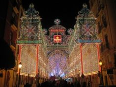 Fallas festival in Valencia, Spain.