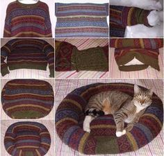 Eski Kazakla kedi yatağı